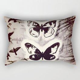 Butterfly Abstracted Rectangular Pillow