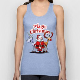 Magic Christmas with a unicorn Unisex Tank Top