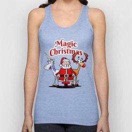 Magic Christmas with a unicorn Unisex Tank Top