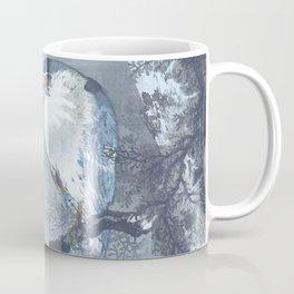 Heron And The Full Moon - Vintage Japanese Woodblock Print Art Coffee Mug