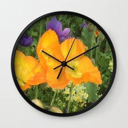 Botanical Florals zencolor3 Wall Clock