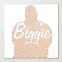 biggie Canvas Prints featuring Biggie by iulia pironea