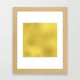 Simply Metallic in Yellow Gold Framed Art Print