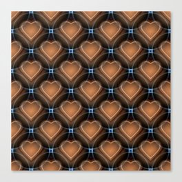 Heart pattern brown Canvas Print