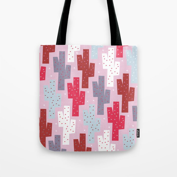 Sweet cactus pattern Tote Bag