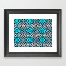 Blue eyes watching over you Framed Art Print