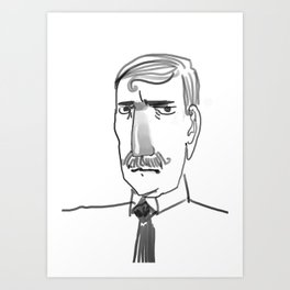 Disapproving gentleman Art Print