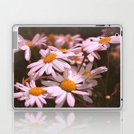 Field of Daisies Up Close by Aloha Kea Photography Laptop & iPad Skin