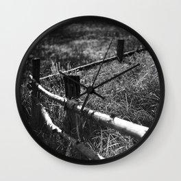Black & White fance Wall Clock