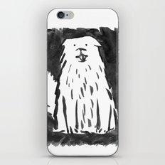 fluffy dog iPhone & iPod Skin
