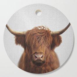 Highland Cow - Colorful Cutting Board