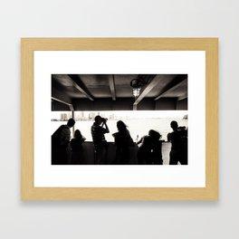 Tourists. Framed Art Print