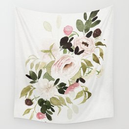 Romantic Loose Rose Bouquet Wall Tapestry