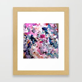 Pink Moon Love Framed Art Print