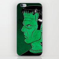 frankenstein iPhone & iPod Skins featuring Frankenstein by JoanaRosaC