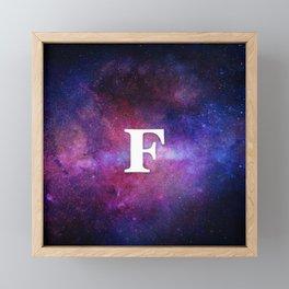 Monogrammed Logo Letter F Framed Mini Art Print
