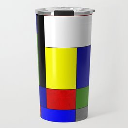 Mondrian #4 Travel Mug