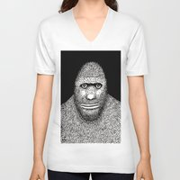 bigfoot V-neck T-shirts featuring Bigfoot by The Art of Filippo Borghi