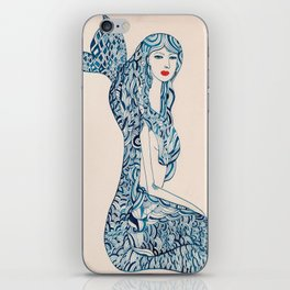 Portrait of a Mermaid iPhone Skin