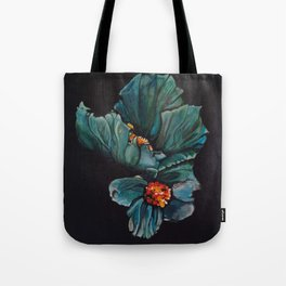 Remembrance - Blue Poppy Himalayan Flower Tote Bag