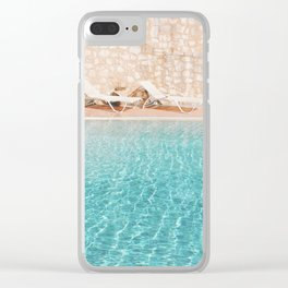 Swimming Pool V Clear iPhone Case