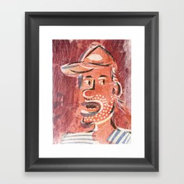 You Talk Too Much Cartoon Face Framed Art Print