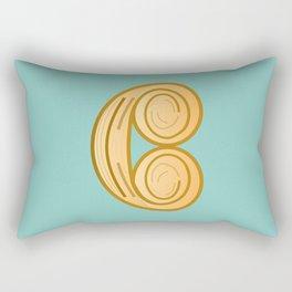 C for cool breakfast Rectangular Pillow
