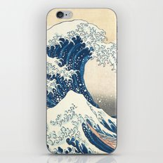 Japanese prints waves iPhone & iPod Skin