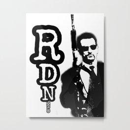 Robert De Niro holding gun mafia gangster movie Heat Metal Print