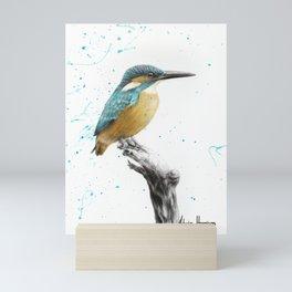 The Knowing Kingfisher Mini Art Print