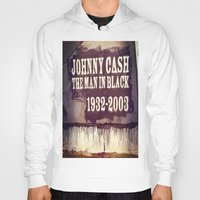 johnny cash Hoodies featuring Johnny Cash by Dan99