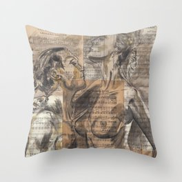 Here In My Arms Throw Pillow