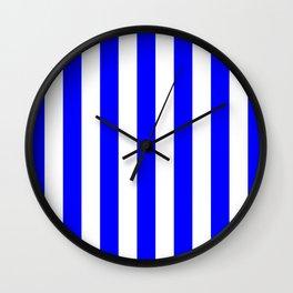 Vertical Stripes (Blue/White) Wall Clock