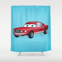 mustang Shower Curtains featuring Mustang Euphoria by Jenji