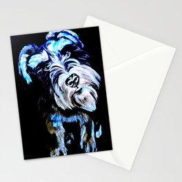 Blue Schnauzer Stationery Cards