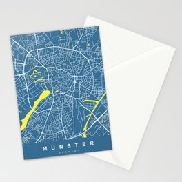 MUNSTER City Map - Germany | Blue | More Colors, Review My Collections Stationery Cards