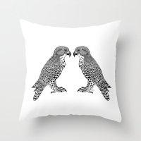 falcon Throw Pillows featuring Falcon by LegendOfZeldy