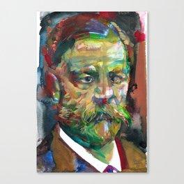 SIGMUND FREUD - watercolor portrait.2 Canvas Print
