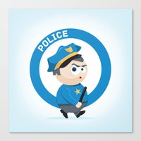 police Canvas Prints featuring Police by Emir Simsek