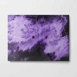 Peek-A-Boo Purple Metal Print
