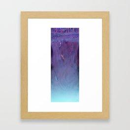 Waterfall koi fish (night-time version) Framed Art Print