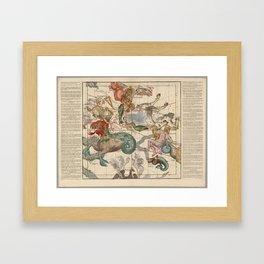 Ignace-Gaston Pardies - Globi coelestis Plate 2: Cetus, Aquarius, Andromeda 1693 Framed Art Print