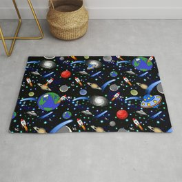 Galaxy Universe - Planets, Stars, Comets, Rockets Rug