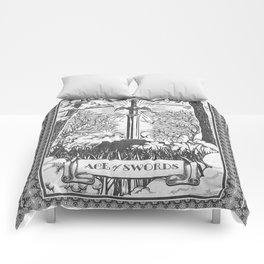 Legend of Zelda Master Sword Vintage Tarot Scene Comforters