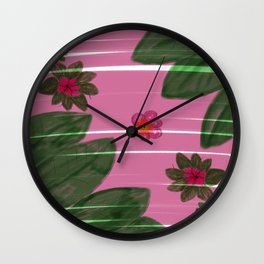 Hand made flowers Wall Clock