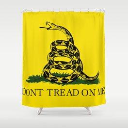 Don't Tread on Me Gadsden flag Shower Curtain