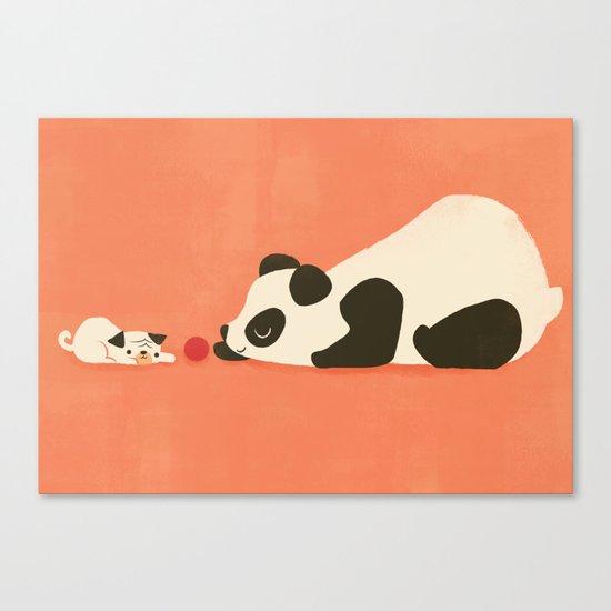 The Pug and the Panda Canvas Print