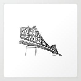 Montreal - Pont Jacques-C - Black Art Print