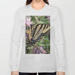 Western Tiger Swallowtail on Lemon Blossoms Long Sleeve T-shirt