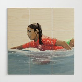 Roxy surf girl Wood Wall Art
